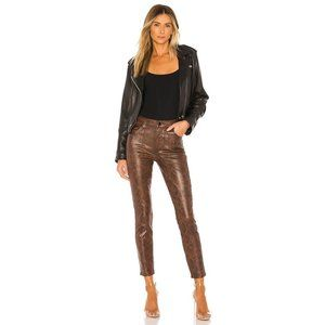 J Brand brown snakeskin crop skinny jeans
